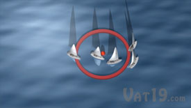 Sailboat racing when rounding the mark