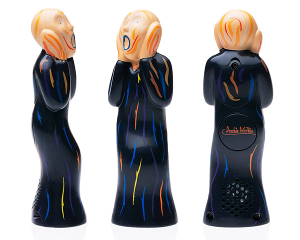The Scream replica toy noisemaker