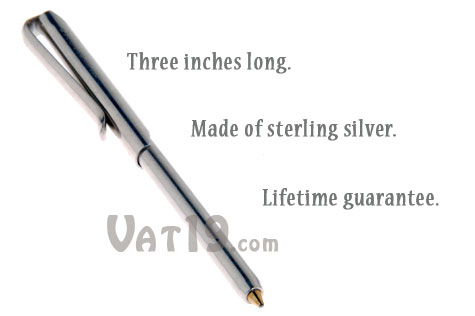 The Wallet Pen lifetime guarantee