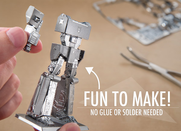 No glue or solder needed, just build Transformers with your hands!