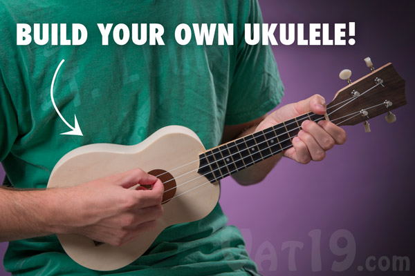 My ukulele kit build your own diy ukulele in a matter of hours man playing his diy ukulele kit solutioingenieria Image collections