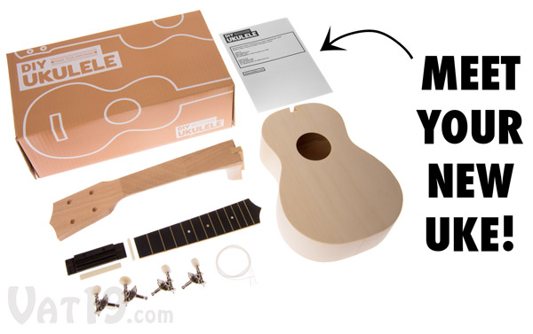 my ukulele kit build your own diy ukulele in a matter of hours