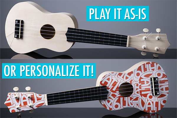Half the fun building your own ukulele is decorating it.