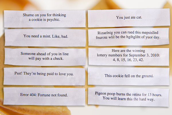 Unfortunate Cookies: Fun, Witty, And Devilish Pack Of 10