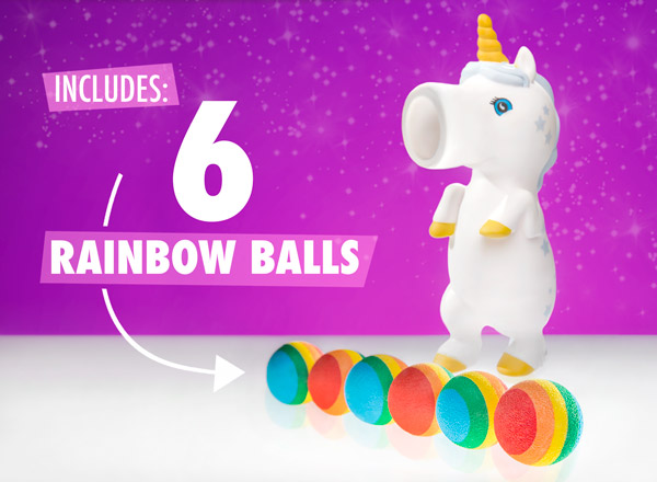 Includes 6 rainbow balls