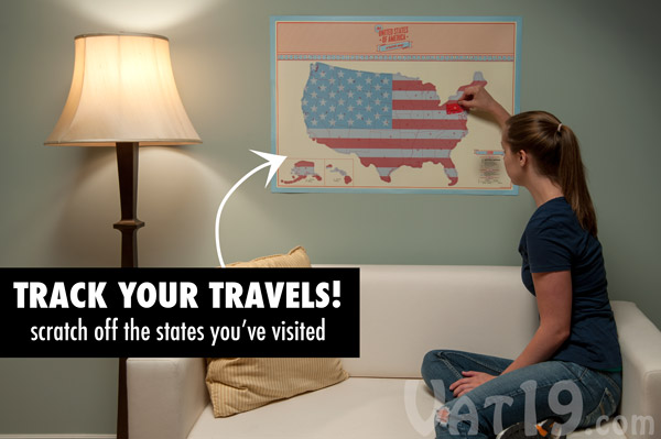 USA Scratch Map Track your travels with the large scratchoff map – Map To Track Your Travels