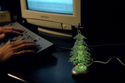 usb christmas tree on your desk