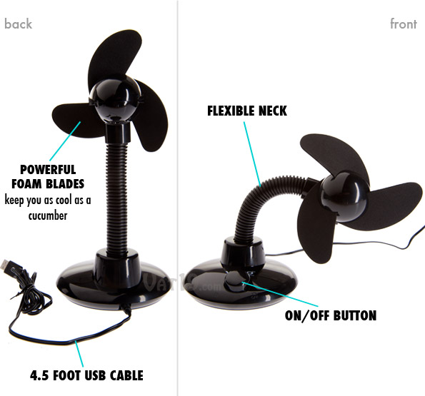 The USB Desk Fan is the cadillac of USB desk fans.