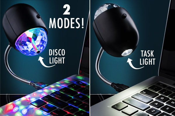 The USB Disco Light is the mullet of USB-powered illumination.