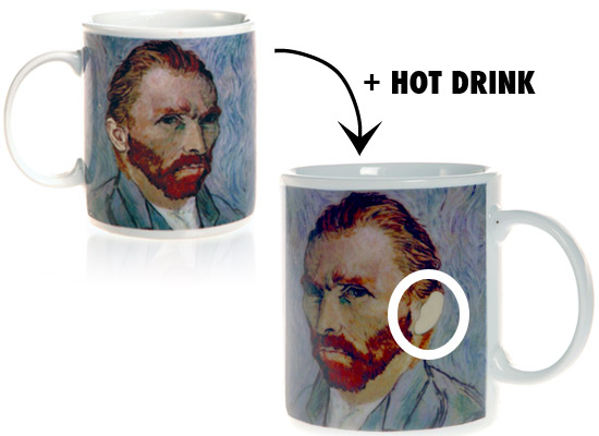Van Gogh Disappearing Ear Mug