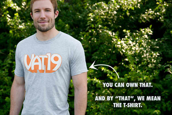 The Vat19 T-Shirt on a Man