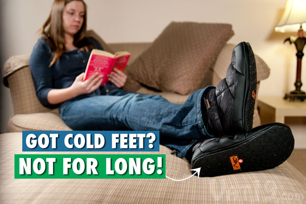 Eliminate cold feet with Volt Heated Slippers