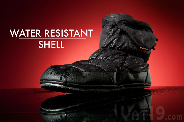 Volt Heated Slippers feature a water resistant coating.