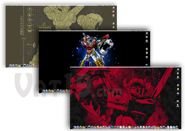 The Voltron USB Flash Drive also comes loaded with several desktop wallpapers for your PC.