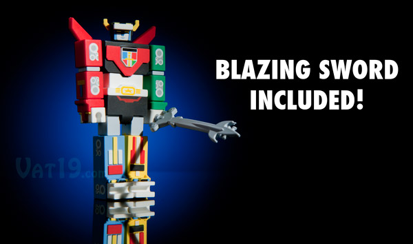 Voltron USB Flash Drive includes blazing sword!