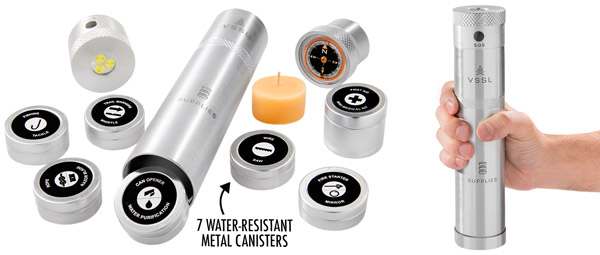 7 water-resistant metal canisters