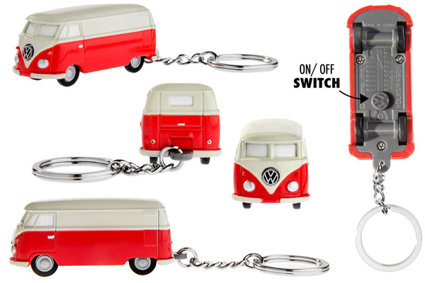 Multiple views of the VW Bus Keychain Light