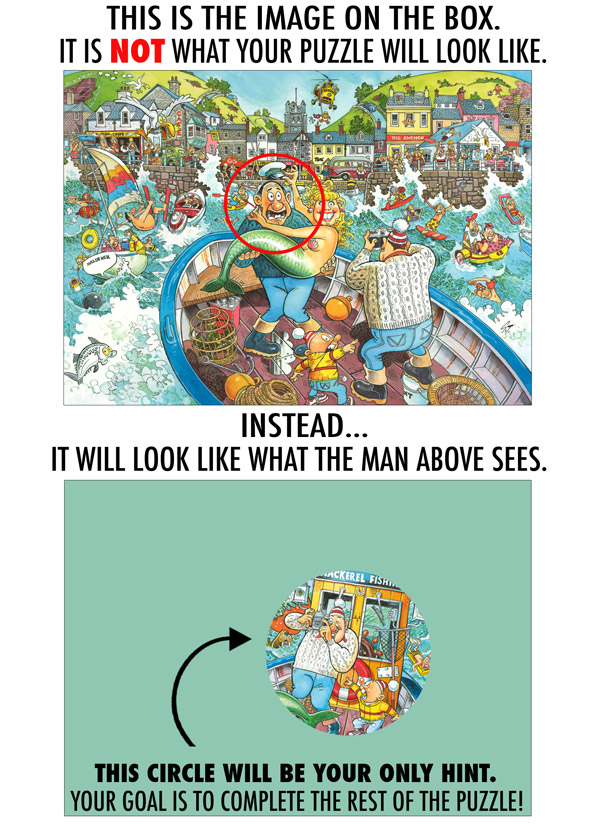 WASGIJ? Reverse the Perspective Jigsaw Puzzle explanation.