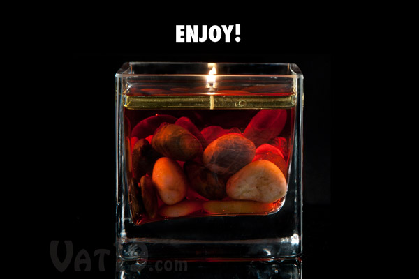 Light the wick and enjoy!