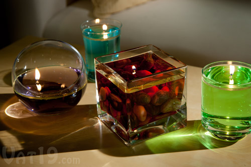 Create Colored Candles Instantly With The H20 Water Candle Kit.