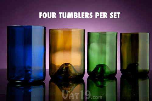 Each set includes four tumblers.
