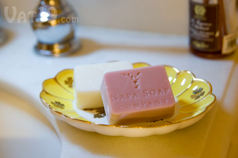 Guest soaps made from real wine.