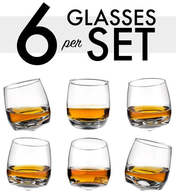 6e1c4cbd6d32 A baker s half-dozen minus one. Each set includes six Wobbly Whiskey ...