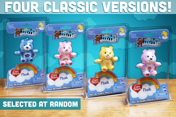 You will randomly receive one of the four different Care Bears.