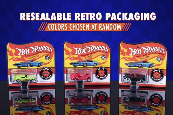 Resealable retro packaging; Colors chosen at random