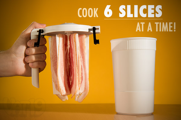 Quickly And Perfectly Cook Six Slices Of Bacon At A Time With Wowbacon