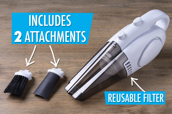 The World's Smallest Vacuum and its attachments