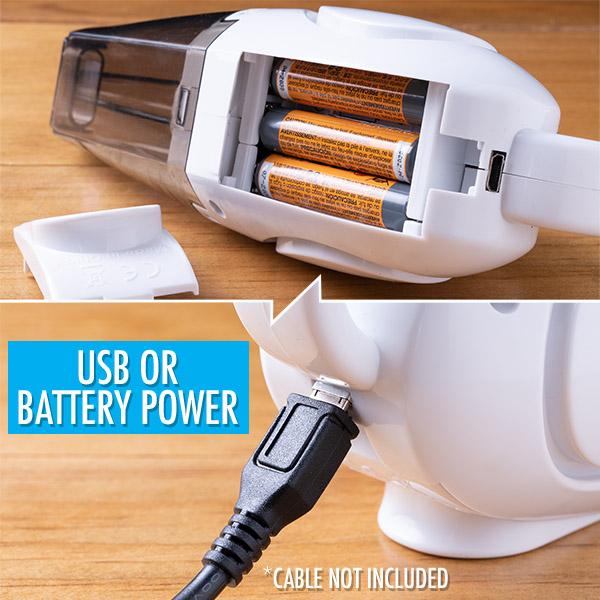 World's Smallest Vacuum power options