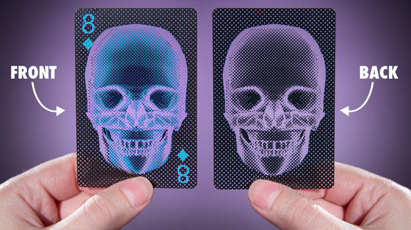 Front and back views of the X-Ray Playing Cards.
