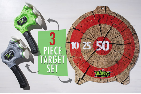 3 pc. Set Includes Dual-Sided Target