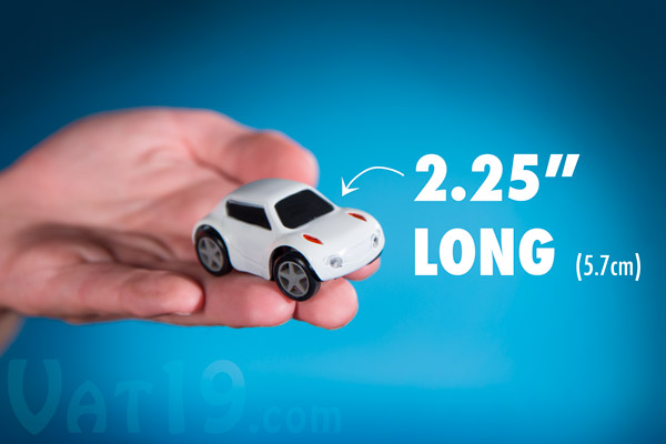 The ZenWheels Microcar is a mere 2.25 inches long.
