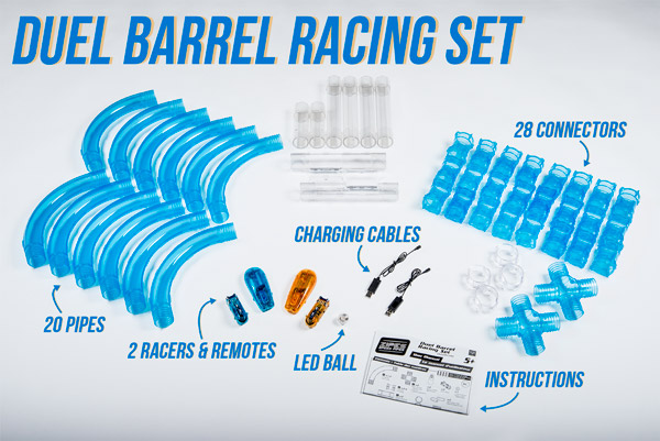 Available in two racing sets